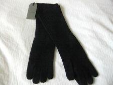 All Saints mens Halton gloves BLACK Long Ribbed Cuff Biker/Style  New