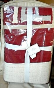 NWT NEW POTTERY BARN Sentiment Patchwork Quilt Full / Queen & 2 Standard Sharms