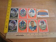 1958 Topps football cards New York GIANTS ONLY lot 8 cards partial team set