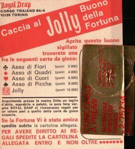 """BUONO DELLA FORTUNA """" ROYAL DRAP """" CONCORSO A PREMI DEL 1967 - JOLLY -"""
