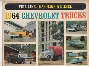 1964 Chevrolet Truck Gas & Diesel Color Brochure