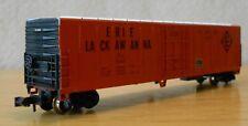 N scale 50' boxcar EL Erie Lackawanna orange excellent