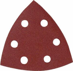 MAKITA carta abrasiva velcro delta 94mm BO4565 varie grane 10 pezzi