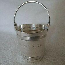 Vintage Napier Silverplated Bucket Full 4 OZ Cocktail Jigger/Shot Glass