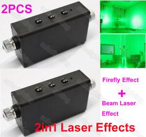 2PCS Double Head Beam Starry Effect Handheld Laser Light Stage Laser Man Show DJ