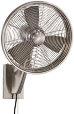 "Minka Aire Anywhere Indoor/Outdoor Wall Fan 15"" Wall Fan - Brushed Nickel"