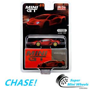 CHASE ! Mini GT 1:64 Lamborghini Aventador SVJ Rosso Mars (Red) #198