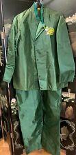 Vintage Reddy Kilowatt Duke Power Nuclear Plant Rain Suit Jacket & Bib Overalls