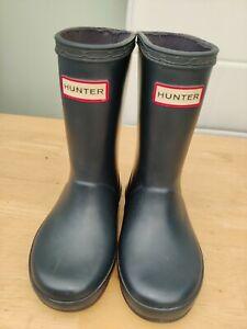Hunter wellington boots blue size uk 7 eu 24