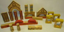 Vintage Printed Wood Building Blocks