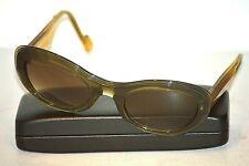 """ANNE ET VALENTIN """"SIERRA"""" 1003 Brown Plastic Cat Eye Women's Sunglasses FRANCE"""