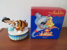 RARE Disney Schmid JASMINE & RAJAH MUSIC BOX - Boxed - STUNNING