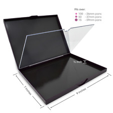 Magnetic Empty Makeup Palette, Double Sided with Divider, Extra Large