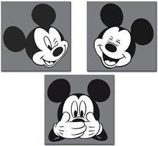 3 er Set Disney Bilder Wandbild Keilrahmen Micky Maus Art. CSWD 564 / 563/ 565