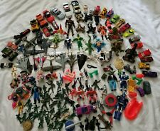 Vintage 150+ Mixed Lot 80's 90's Action Figure Car Army Plane Toy Power Rangers