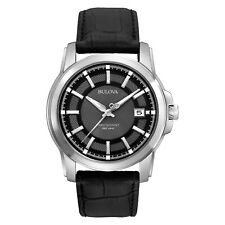 Bulova Precisionist Men's 96B158 Langford Quartz Black Leather Strap 42mm Watch