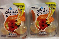 4 Glade Plugins Scented Oil Refils Hawaiian Breeze Scent FREE SHIPPING!
