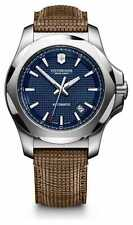 Victorinox Swiss Army INOX Automatic Blue Dial Wooden Strap Men's Watch 241834