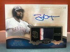 2012 Topps Tier One Baseball Tony Gwynn Auto & 3 Color Patch #'d 99