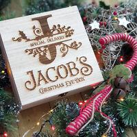 PERSONALISED CHRISTMAS EVE BOX / Wooden Christmas Eve Box