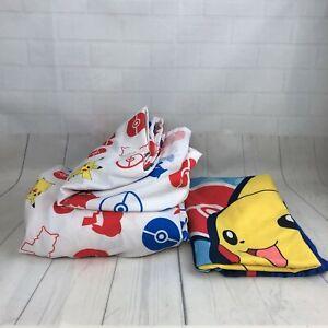 Pokemon Electric Ignite 3 Piece Twin Sheet Set