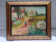 ALEKSANDRA MIACZYNSKI Peintre née en 1923 POLOGNE Huile signée Promenade .......