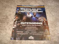 ROCK AND ROLL HALL OF FAME 2018 Emmy ad Tom Petty, Jon Bon Jovi, Nina Simone