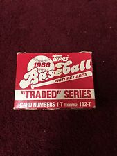 "1986 Topps Baseball Picture Cards ""Traded"" Series"