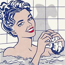 Roy Lichtenstein pop art woman in bath Print painting 60cm x 60cm vintage