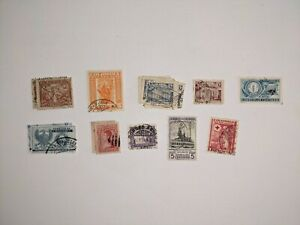 COLOMBIA POSTAGE REVENUE STAMPS LOT VINTAGE USED