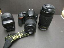 Nikon D3500 camera & 18-55 & 70-300mm lenses Nikon USA MINT 2K shutter count