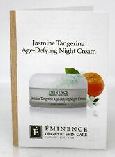 Eminence Jasmine Tangerine Age-Defying Night Cream Sample Size 0.10 Ounce