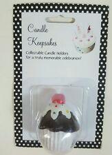 NEW NIP CANDLE KEEPSAKES HOLDER Topper CAKE BIRTHDAY NPR Chocolate Cupcake