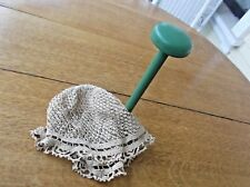 Antique Crocheted Victorian Night Cap With Hat Stand