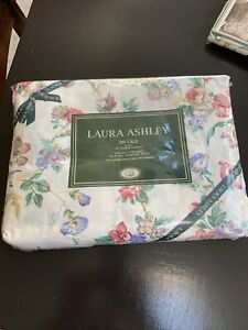 NIP Vintage Laura Ashley 200 Cale King Fitted Sheet - JULIET - Pink Floral