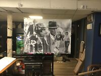 HUGE! 43x32 BEAR BRYANT Vinyl Banner POSTER Alabama ken stabler joe Namath art..
