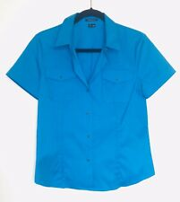 Theory Sz M Blue Short Sleeve Top