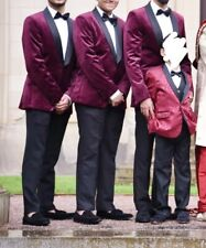 Burgundy & Maroon Wedding / Formal Slim Fit Blazer Men / Boys