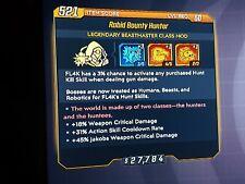 Borderlands 3 Rabid BOUNTY HUNTER Class mod: (+Crit dmg /+31% Cool down!). XBox