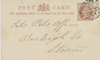 2441 1889 QV ½  D stamped to order postal stationery pc LATE FEE USAGE, R!