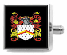 Maling England Familie Wappen Familienname Clip-Krawatte Graviert in Beutel