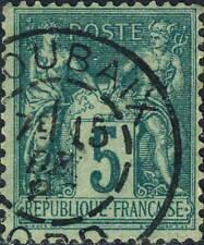 "FRANCE 1887 CàD "" ROUBAIX / NORD "" sur Yv.75 / Mi.86.II 5c Vert Sage T.2"