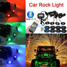 4xLumières de roche Sans fil Bluetooth RGB Musique Under voiture Jeep camion 4WD