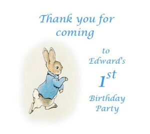 PERSONALISED PARTY BAGS SWEET BUFFET CLASSIC PETER RABBIT FIRST 1ST BIRTHDAY #2