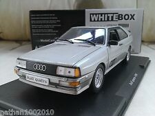 1986 Audi Quattro - Metallic Silver - Diecast Model Car 1/24 Whitebox