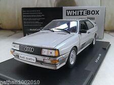 1986 Audi Quattro - Metallic Silver - Diecast Model Car 1/24 Whitebox