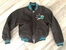 Jeff Hamilton San Jose Sharks Reversible Satin Wool Jacket Youth Small EUC