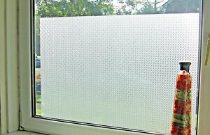 *aba-Decor* Frosted Decorative Etched Glass Window Static Vinyl Privacy Film