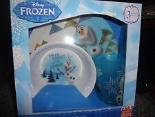 New listing Disney Frozen Olaf Zak Mealtime Set Plate, Cup & Bowl New