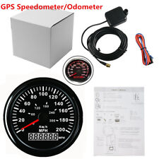 85mm LCD Car GPS Speedometer Gauge Red Backlight W/GPS Speed Sensor anti-fogging